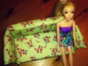 barbie on couch